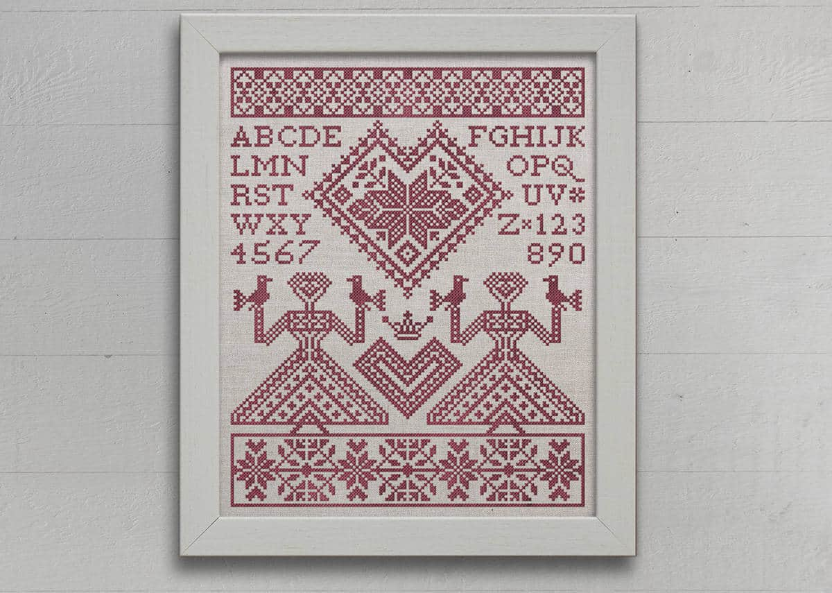 My Norwegian Valentine New Pattern Modern Folk Embroidery