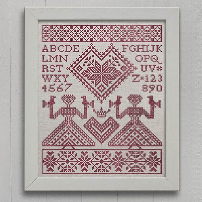 My Norwegian Valentine An Alphabet Sampler Pdf Pattern Modern