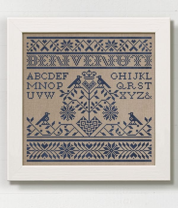 Traditional Style Samplers Modern Folk Embroidery
